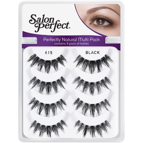 Salon Perfect Perfectly Natural Multi Pack Eyelashes, 615 Black, 4 pr