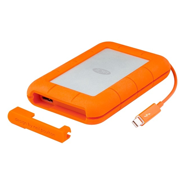 500GB LaCie SSD Rugged Dual Interface Portable Hard Drive (Thunderbolt, USB3.0)