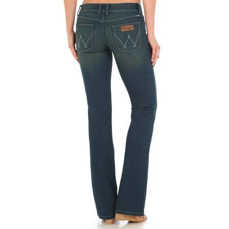 Indigo Striped Jeans - Wrangler Women's Indigo Retro Sadie Low Rise Jeans Boot Cut - 07Mwzpt