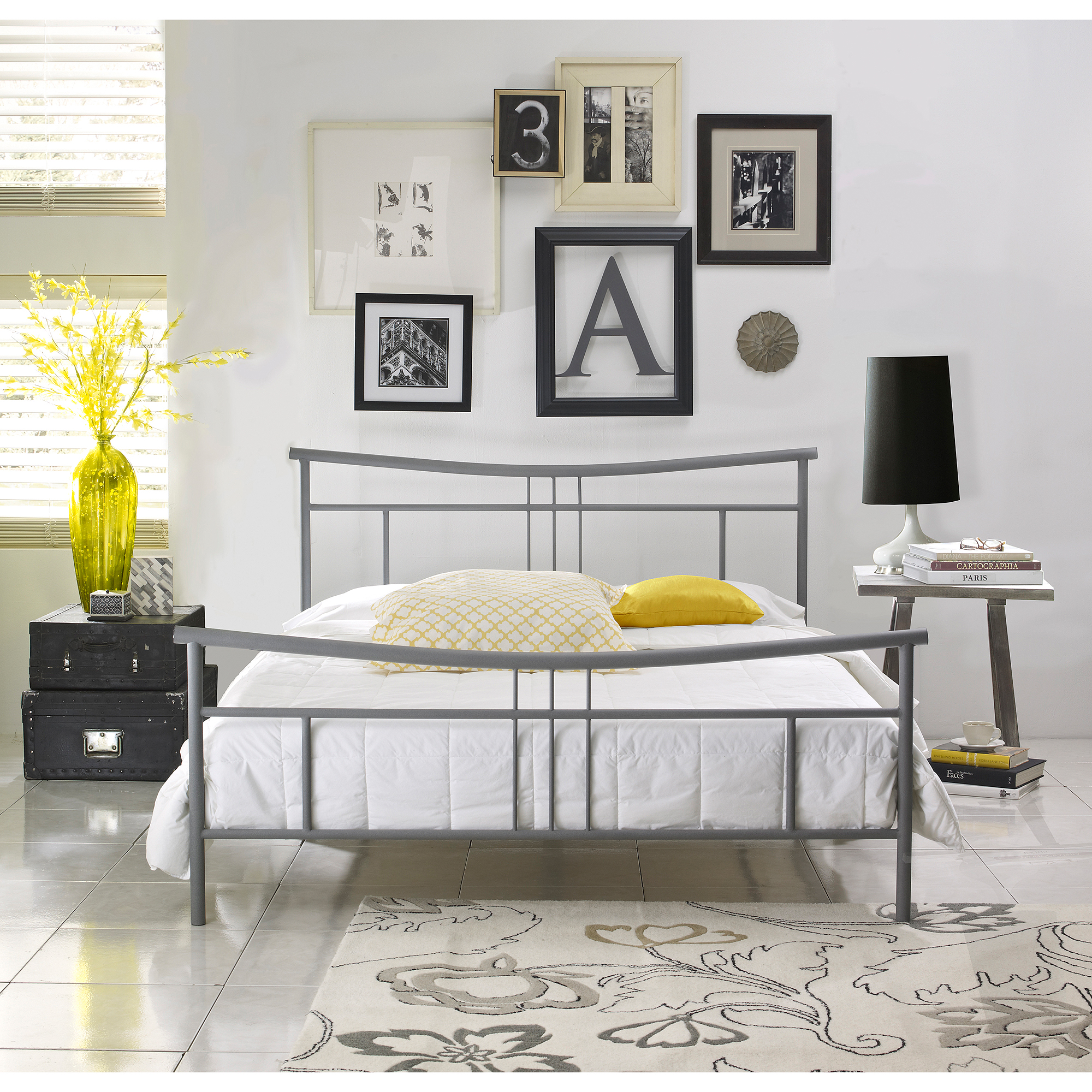 Premier Annika Metal Platform Base Bed, Multiple Sizes and Finishes