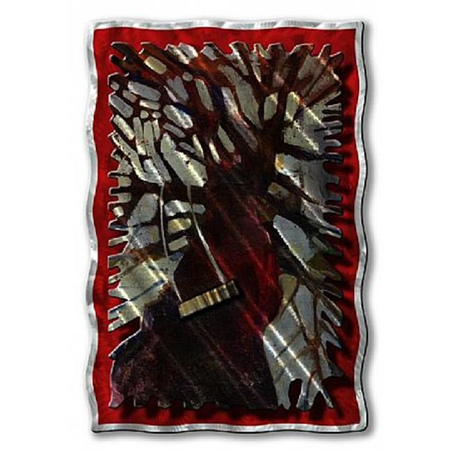 All My Walls TRE00003 Tree Swing Metal Hanging Art