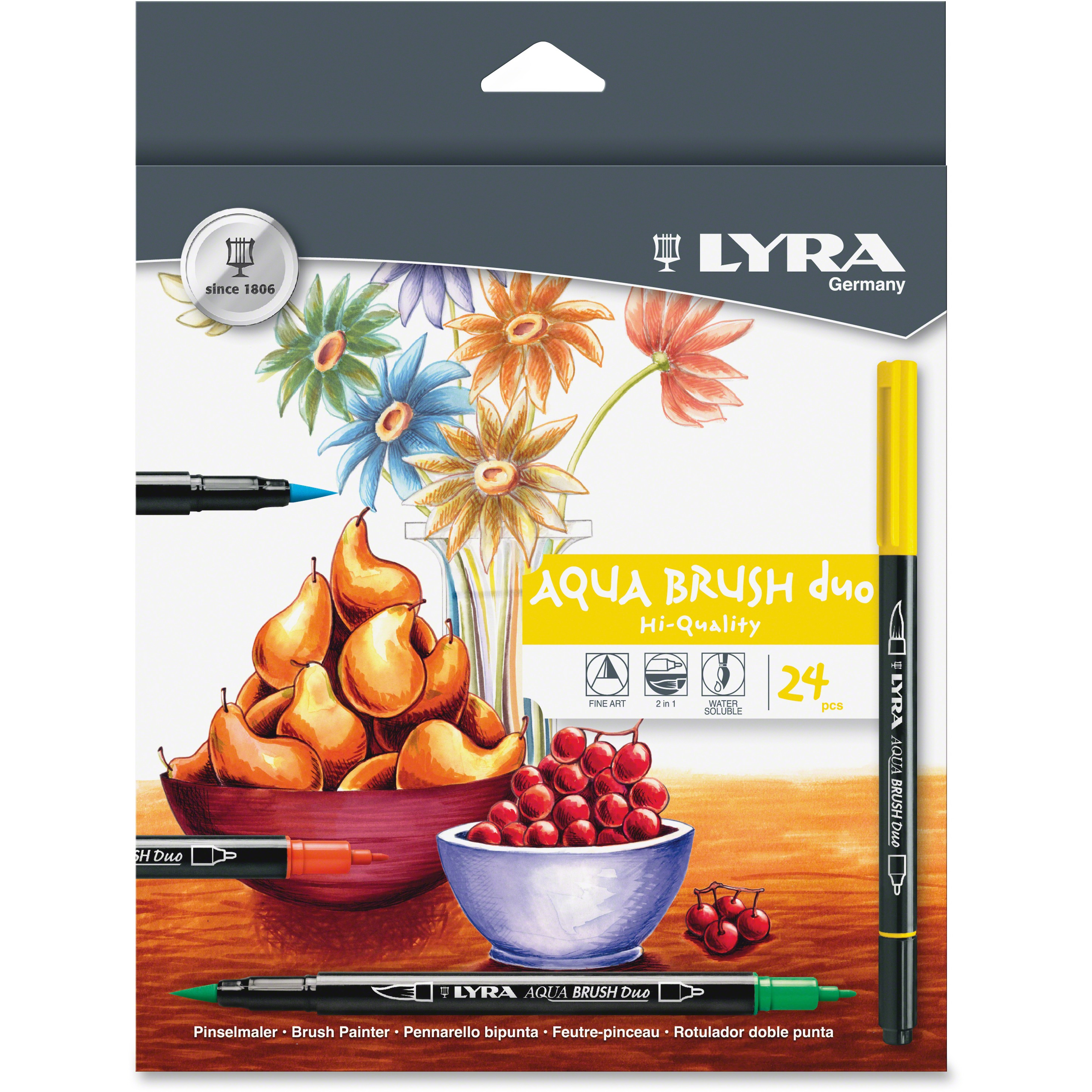 LYRA Aqua Brush Duo Set, 24 / Set (Quantity)