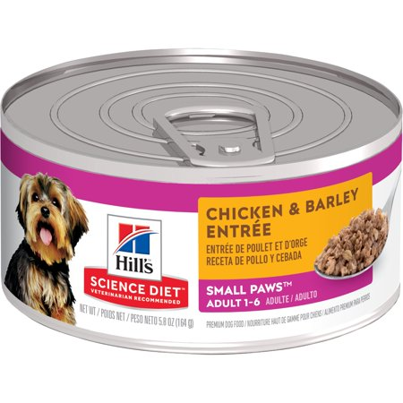 Hill's Science Diet Adult Small Paws Chicken & Barley Entree Wet Dog Food, 5.8 oz,