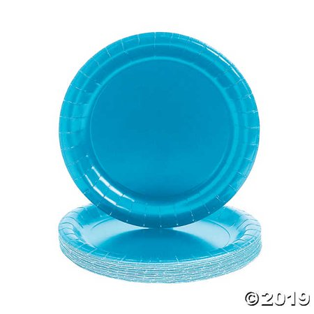 Turquoise Round Paper Dinner
