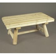 "42"" Natural Cedar Log Style Indoor Rectangular Coffee Table"