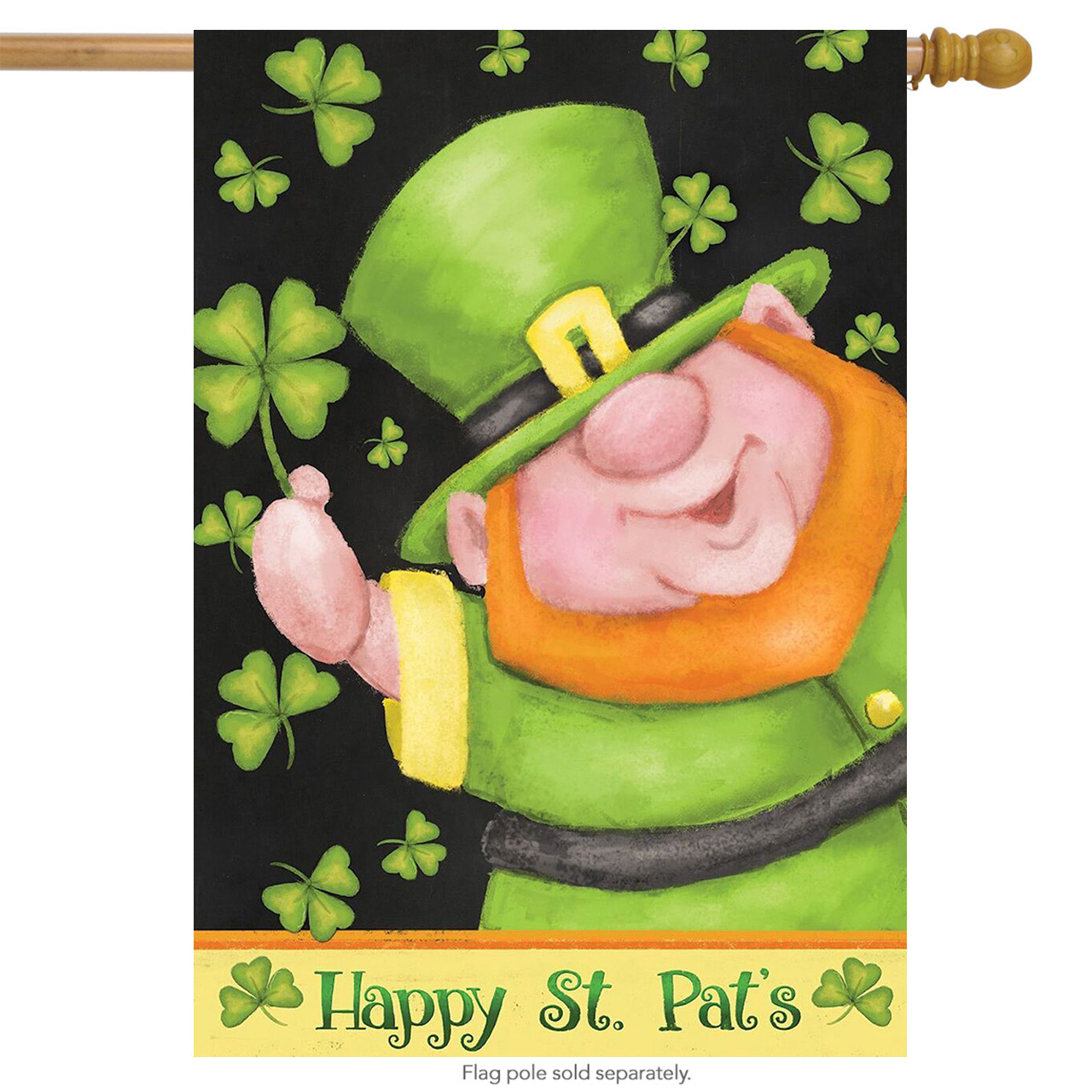 "Leprechaun St. Patrick's Day House Flag Briarwood Lane 28"" x 40"""