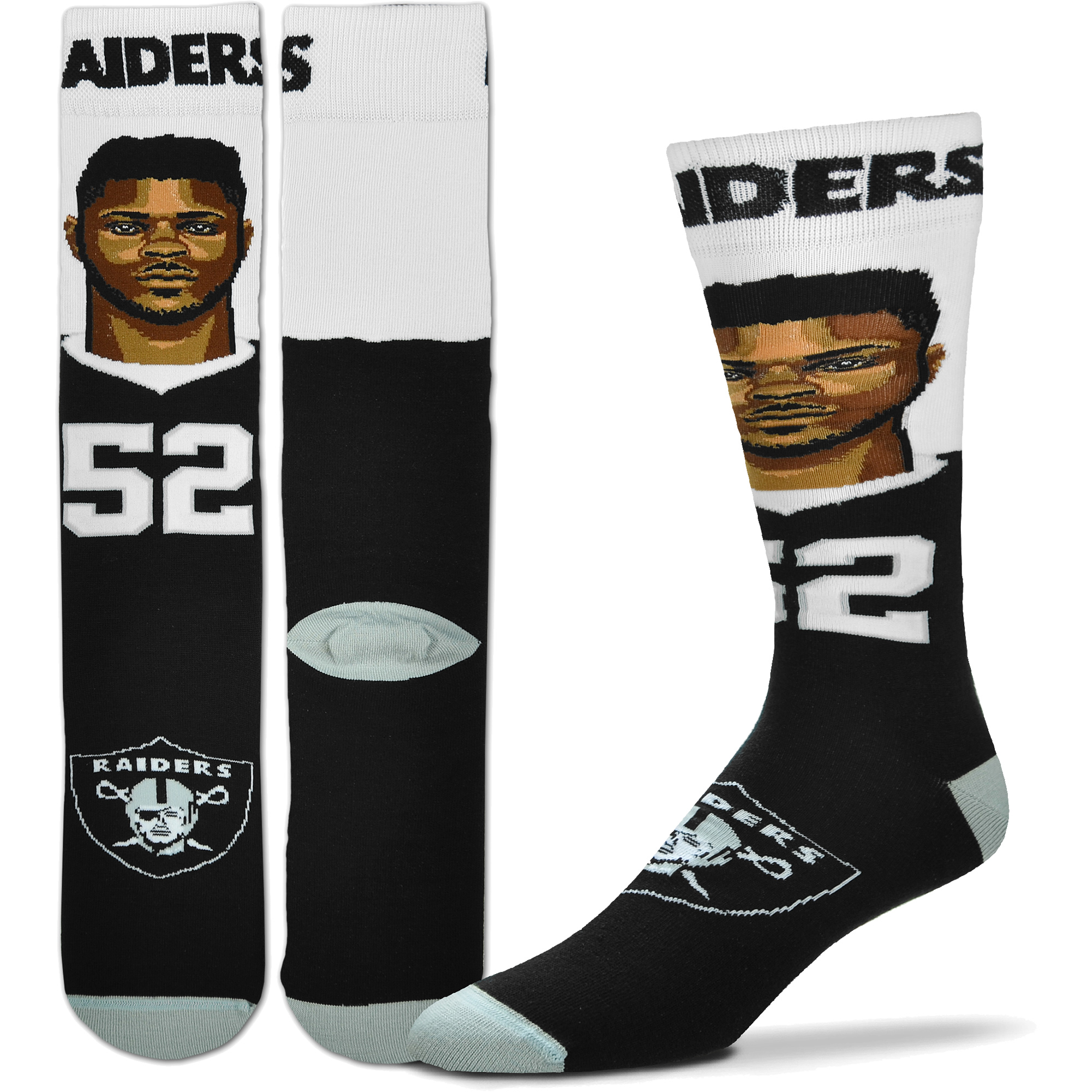 Khalil Mack Oakland Raiders For Bare Feet Selfie Socks - L