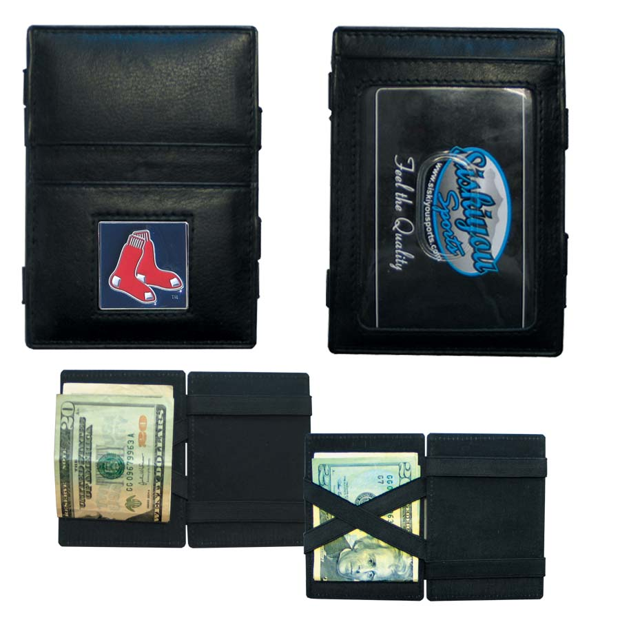 Boston Red Sox Leather Jacob's Ladder Wallet (F)
