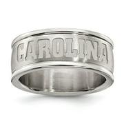 White Stainless Steel Ring Band South Carolina NCAA University of