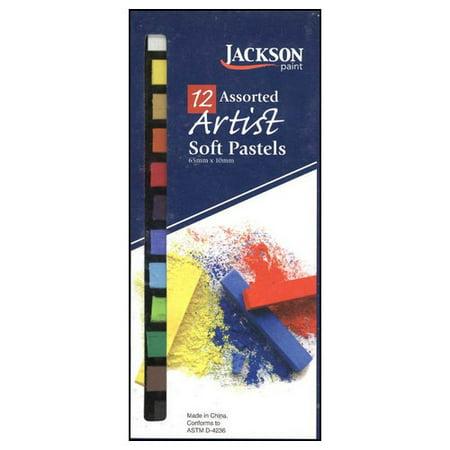 JACK RICHESON 400105 JACKSON ARTIST SOFT PASTEL 12 PIECE ASSORTED BASIC COLORS