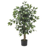 Nearly Natural 3ft. Ficus Silk Artificial Tree, Green