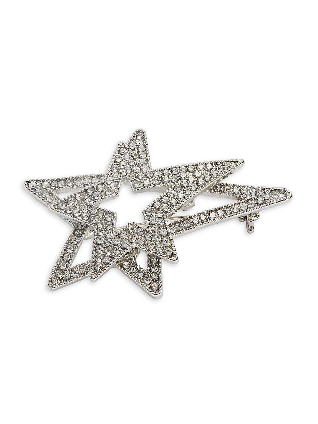 Double Floating Star Pin