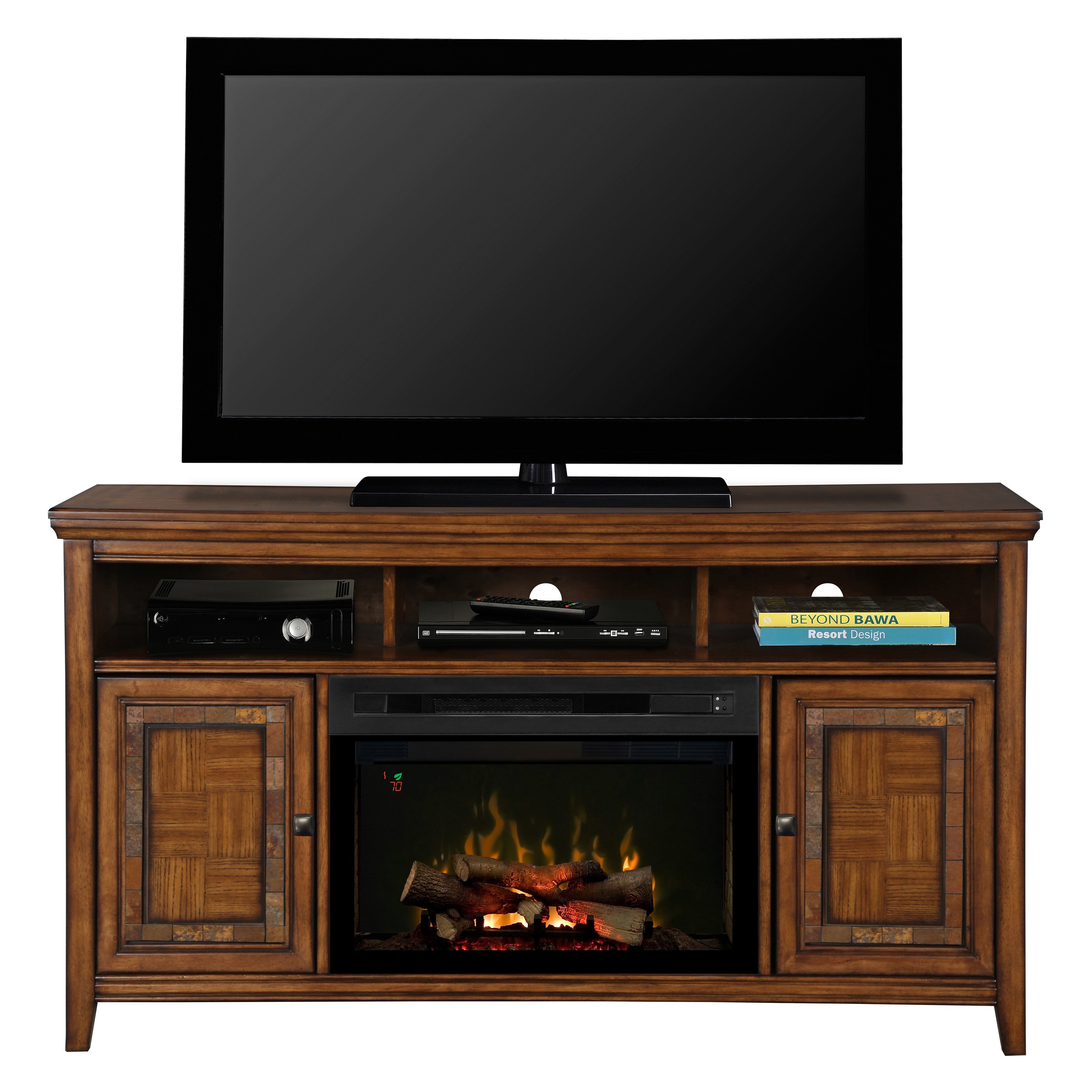 Dimplex Lynbrook Media Console with Electric Fireplace - Walmart.com