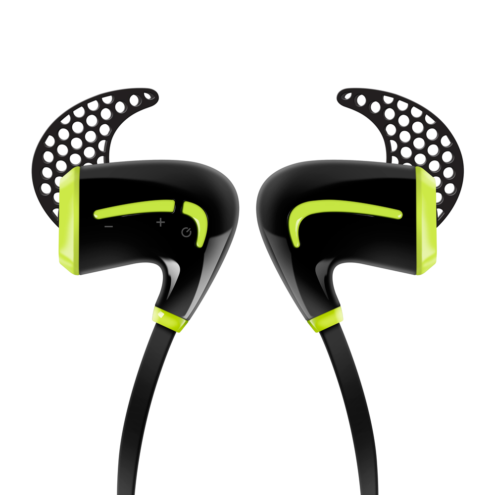 Photive BT Bluetooth Headphones, Best Wireless Earbuds For Sports, Running and Gym Workouts. Waterproof, Sweatproof, Secure-Fit Headset. Noise Cancelling Earphones with Microphone