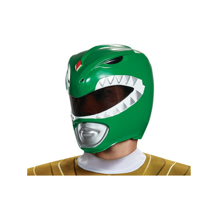 Adult's Mens Power Rangers Green Ranger Helmet Costume - Power Ranger Helmets For Sale