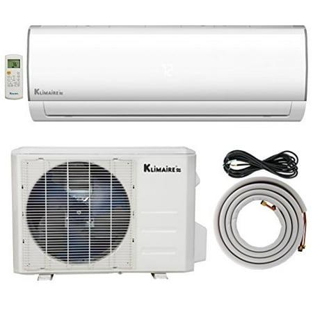 Klimaire 24,000 BTU Ductless Mini-Split Inverter Air Conditioner Heat Pump System with 16-ft. Installation Kit & Wall Bracket (230V) 15.5 SEER