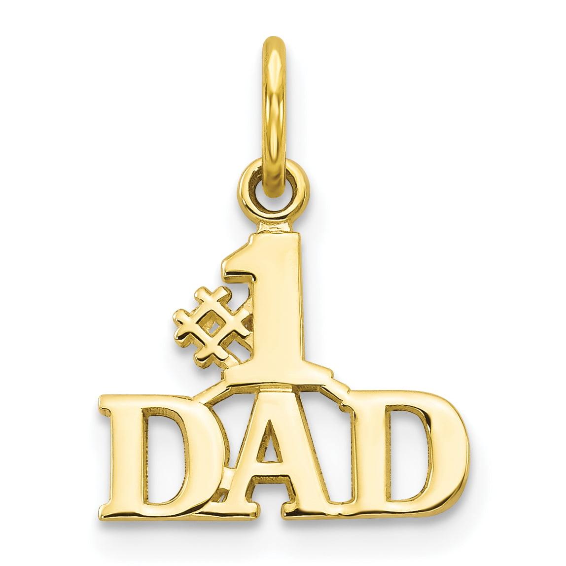 Best Quality Free Gift Box 14k 1 Dad Charm