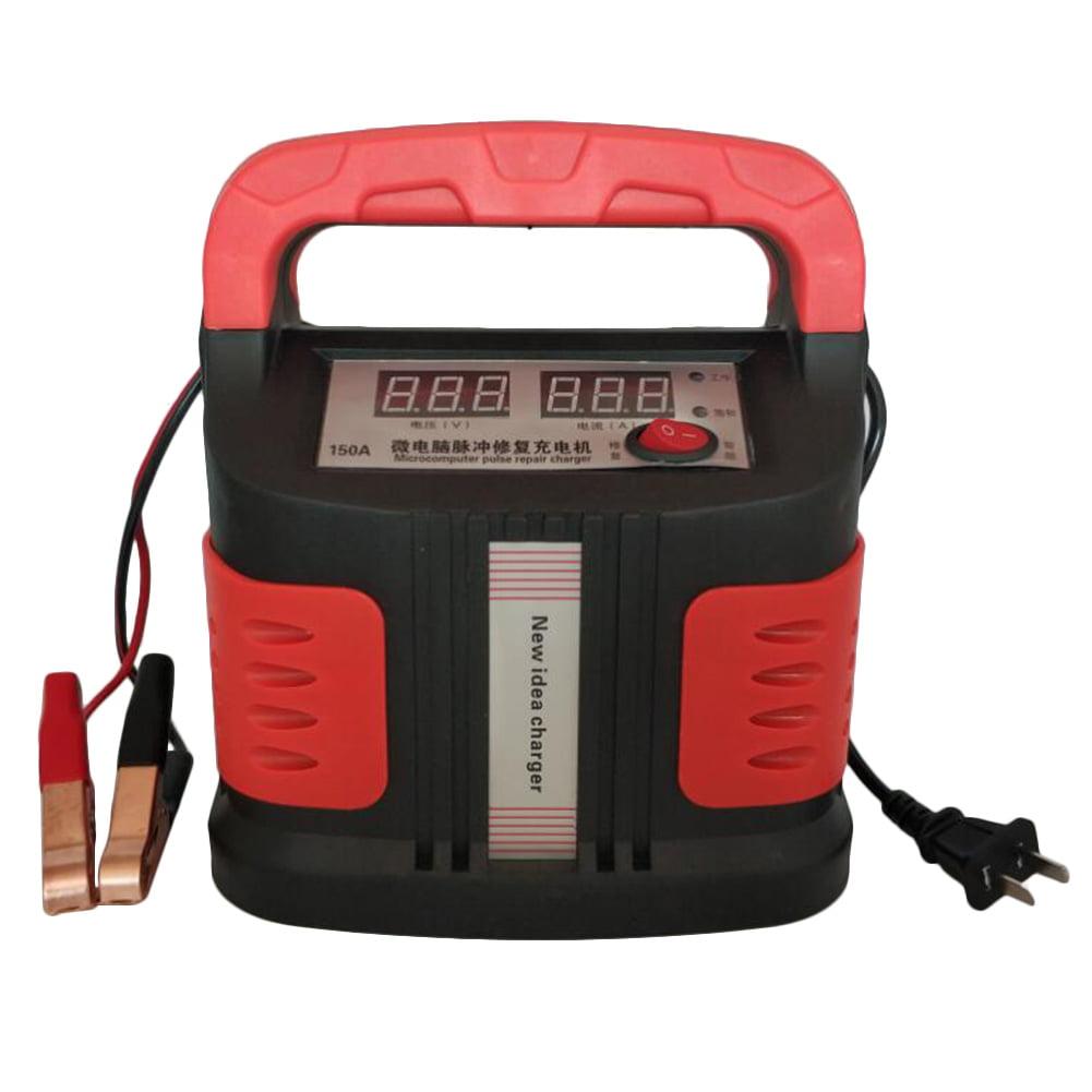 360W 12V//24V Car Battery Charger Intelligent Pulse Repair Jump Starter Booster