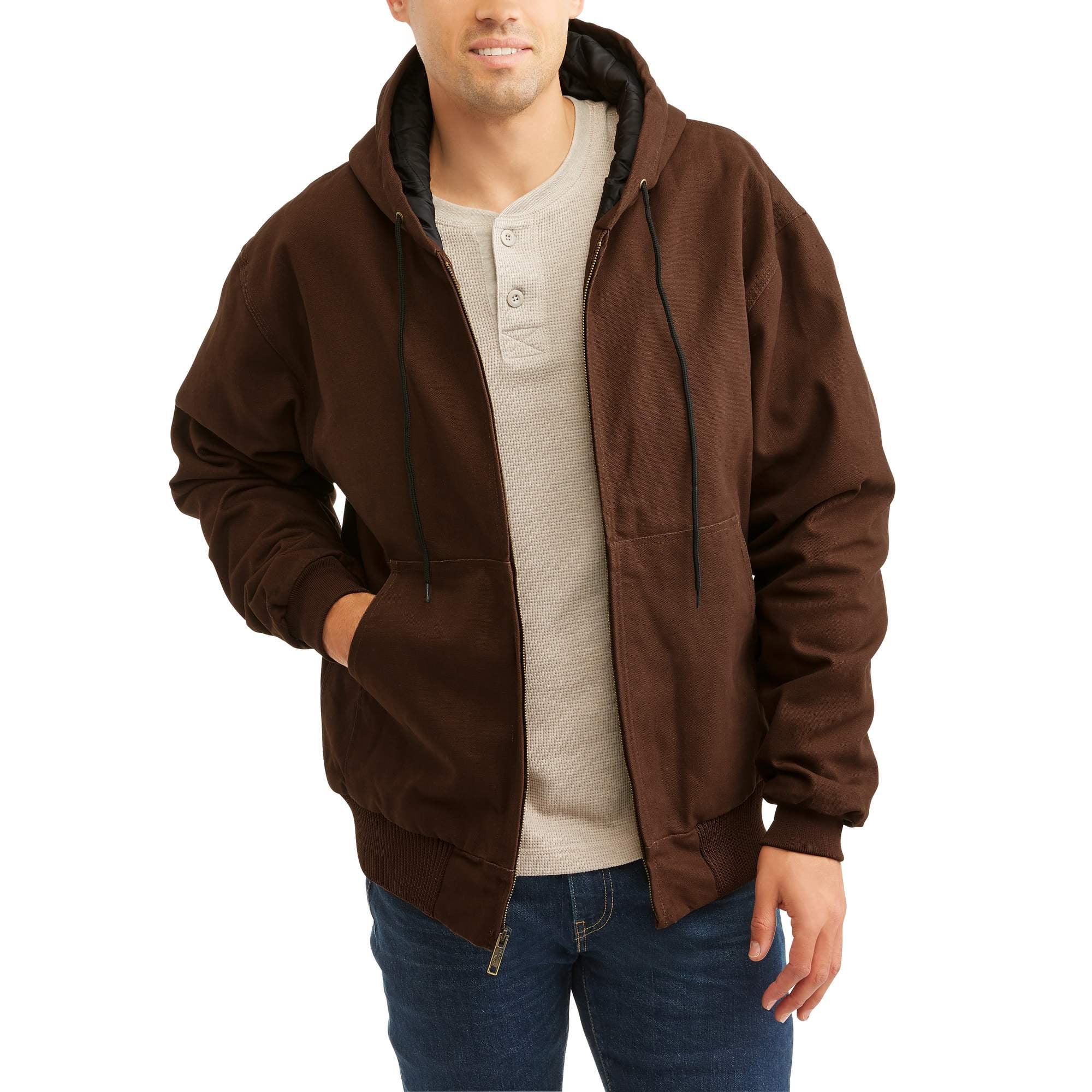 Men's Polar Fleece Lined Hooded Jacket by