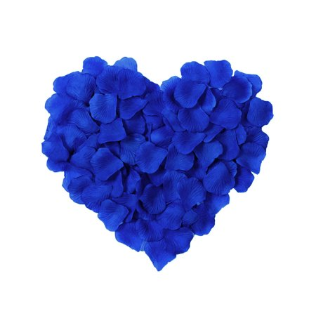 Pack of 1000 Pcs Artificial Silk Rose Petals for Wedding Proposal Decoration, Royal (Purple Silk Rose Petals)