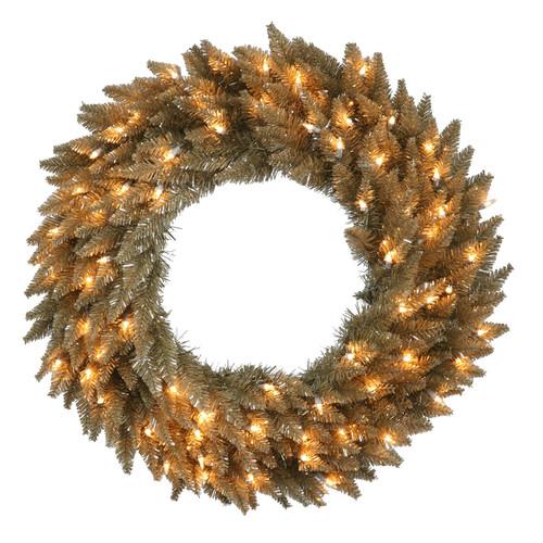 The Holiday Aisle Lighted Fir Wreath