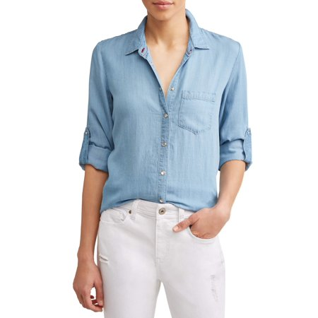 2 Pocket Button (Chambray Button Down Pocket Shirt)