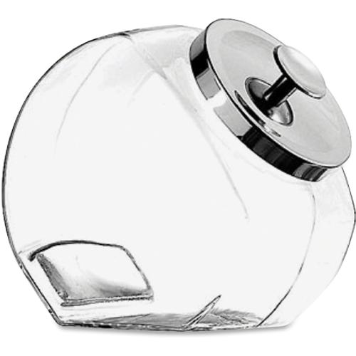 Office Settings Penny Candy Display Container - 4 quart Candy Jar - Glass Jar, Metal, Chrome - 1 Piece(s) / Each