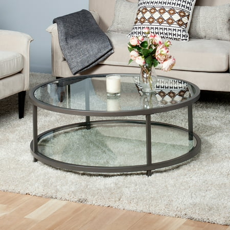 Studio Designs Home Camber Round Coffee Table Pewter