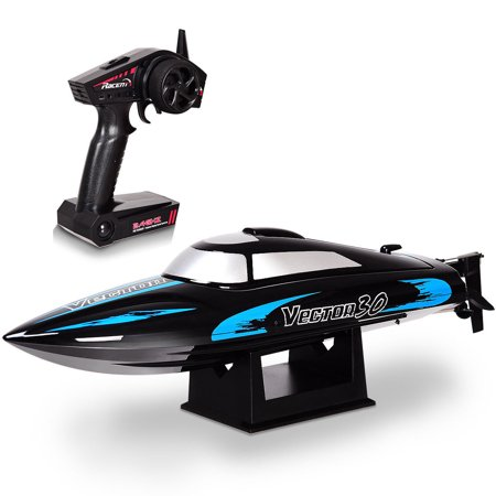 Fiberglass Rc Boats (Costway 2.4G RC Racing Boat High Speed 30KM/H Brushed RTR Fast Racing Lake Toy Gift)