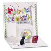 Up With Paper Washing Machine Pop-Up Birthday Card