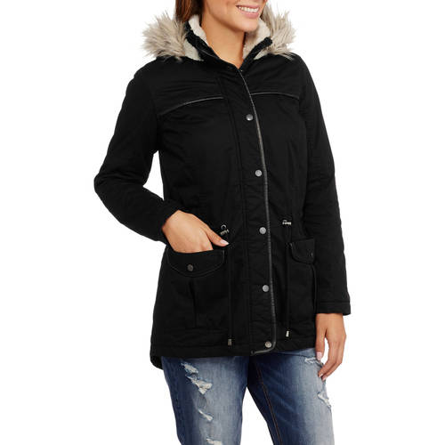 Maxwell Studio Women's Quilted Parka with Fur-Trim Hood