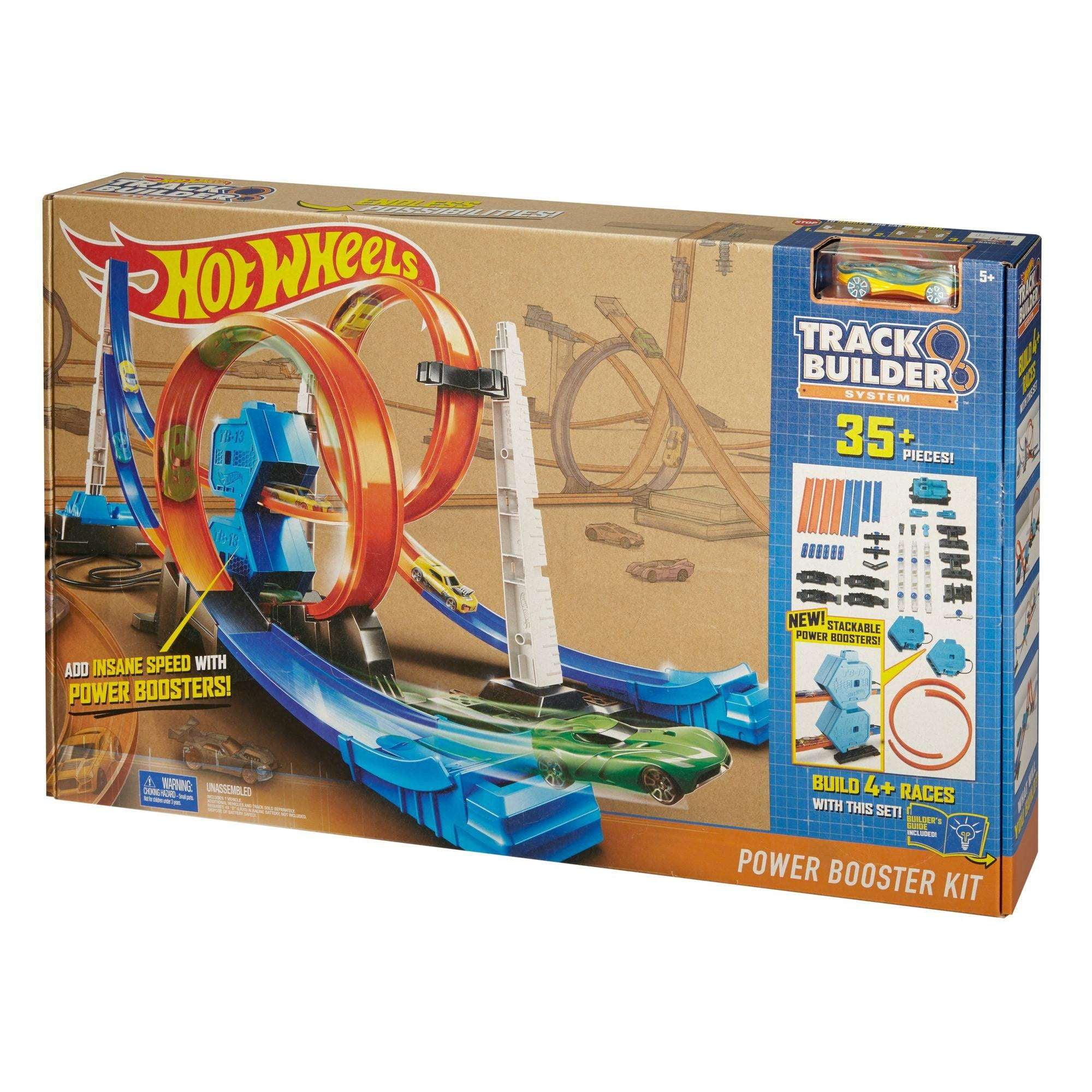 36c41b59149e7 Hot Wheels Track Builder System Power Booster Kit - Walmart.com