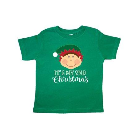 My 2nd Christmas Holiday Elf Toddler T-Shirt - Toddler Elf