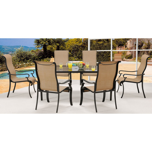 Cambridge Outdoor Hammond 7-Piece Outdoor Dining Room Set with Glass-Top Table by Cambridge