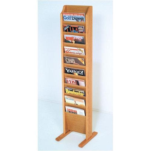 Wooden Mallet 10 Pocket Free Standing Magazine Rack