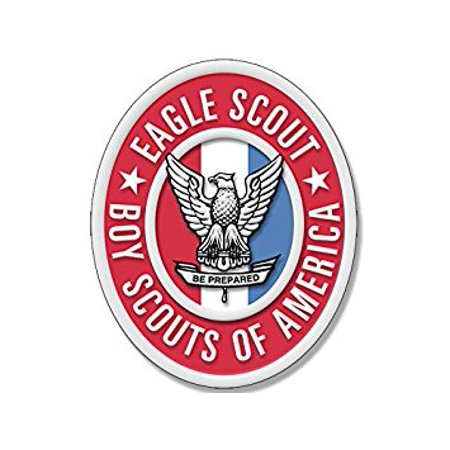 - Oval EAGLE SCOUT Logo Sticker Decal (scouting emblem insigina boy scouting) 3 x 5 inch