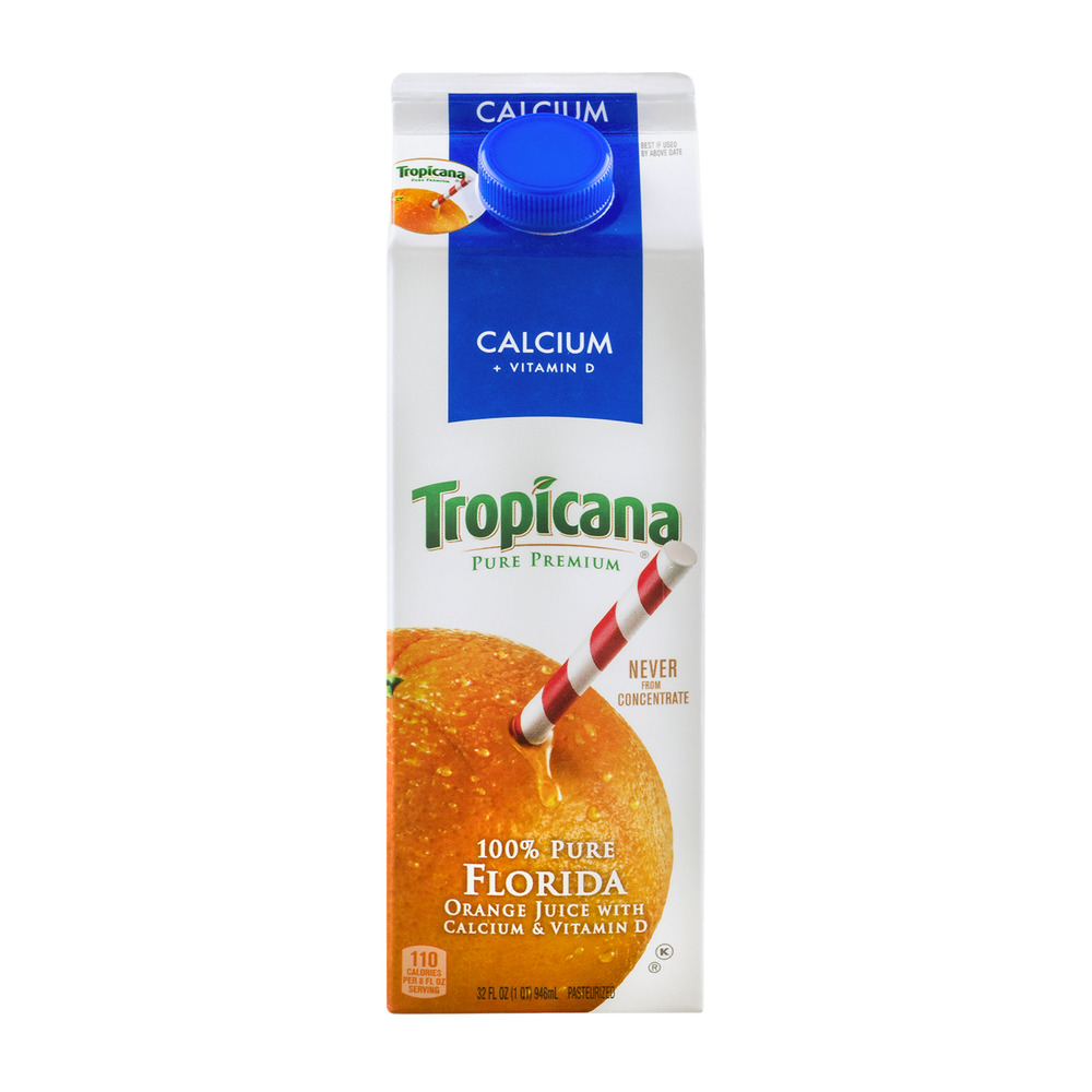 Tropicana 100% Pure Florida Orange Juice, 1 Quart