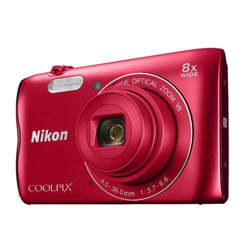 Nikon COOLPIX A300 Digital Camera (Red)