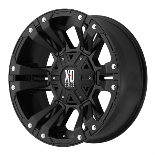 Wheel Pros XD822 Monster II, 20x10 with 5 on 5 and 5 on 5...