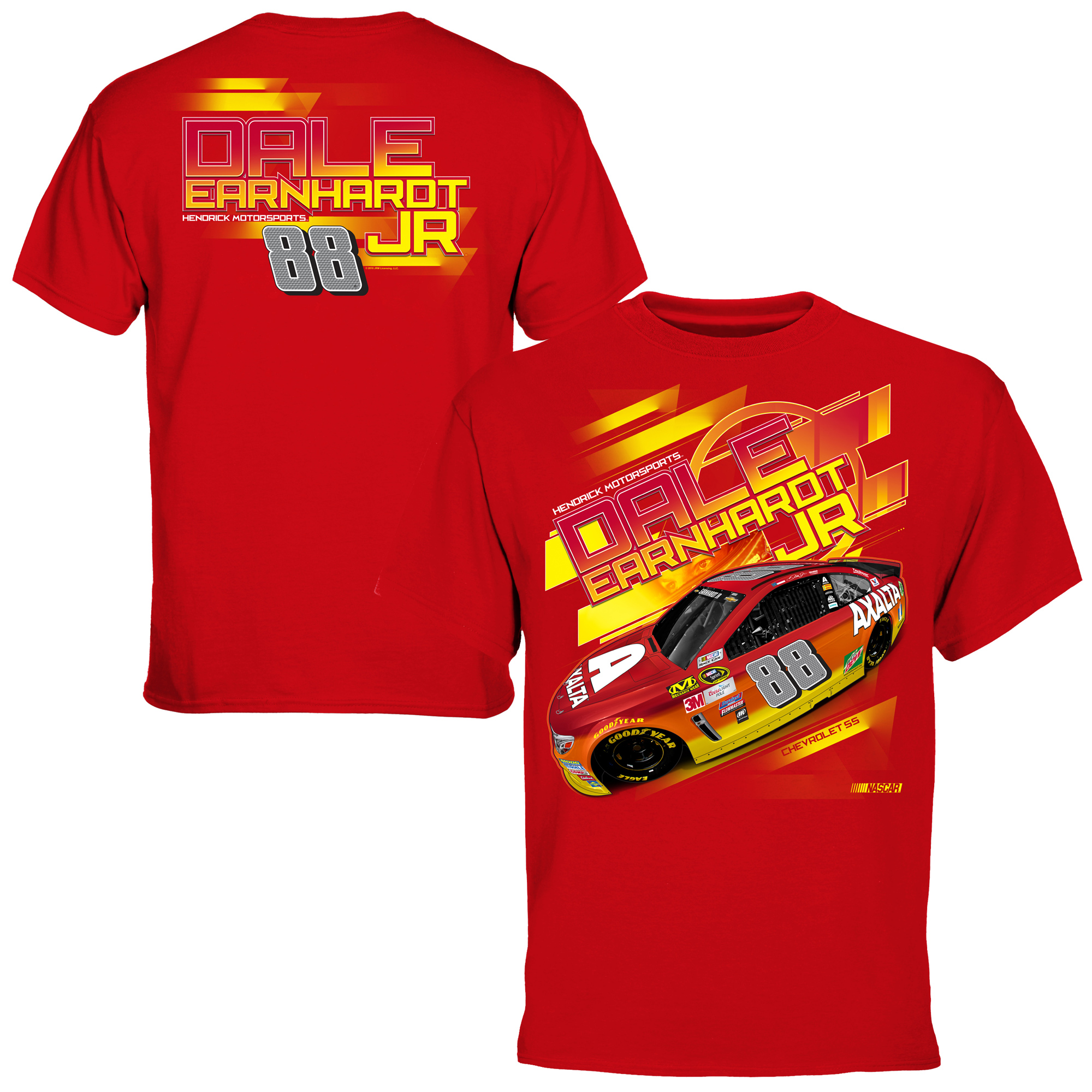 Dale Earnhardt Jr. Axalta Chassis 2 Spot T-Shirt - Red