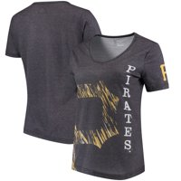 Pittsburgh Pirates Women's Static Rain V-Neck T-Shirt - Black