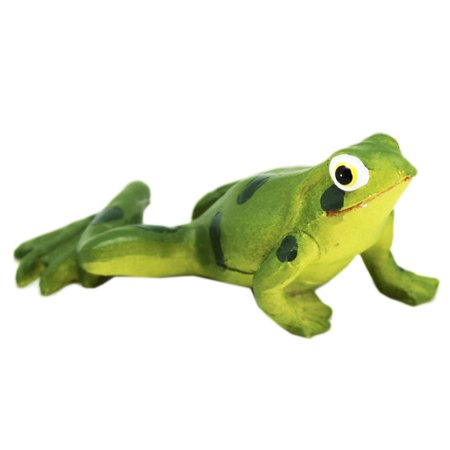 Garden Frog Figurine: Pushup Position With Extended