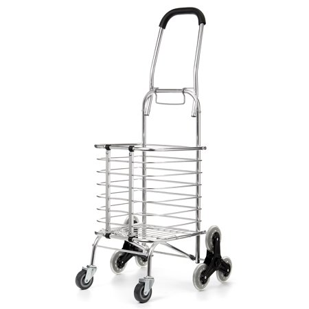 Folding Stair Climbing Shopping Cart Trolley Home 8 Wheels Stair Climber Christmas Gift Wheel Roller Portable Foldable Stainless Steel Travel Outdoor 60KG Load US