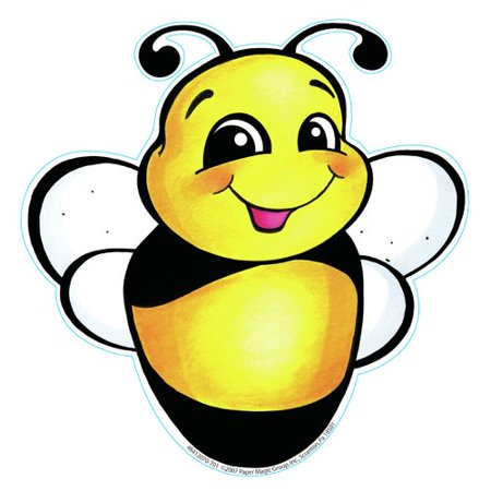- Eureka Classroom Bee With Flower Paper Bulletin Board Cut Out
