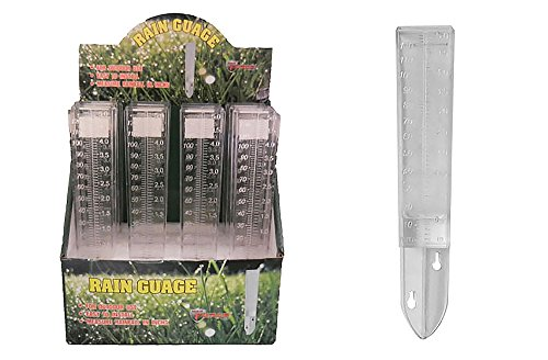 Diamond Visions 01-0899 Clear Outdoor Rain Gauge Multipack (4 Rain Gauges) by