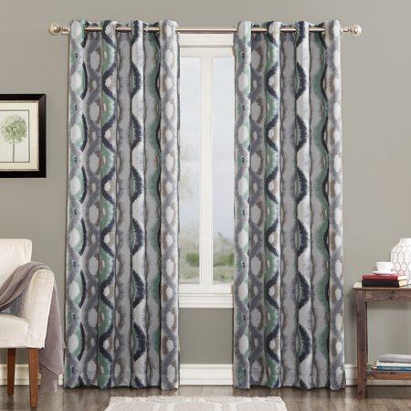 Ogee Vertical Raised Panel (Sun Zero Deltona Ogee Watercolor Energy Efficient Grommet Curtain Panel )