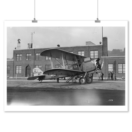 Airmail Plane at Boeing Field Photograph (9x12 Art Print, Wall Decor Travel Poster)
