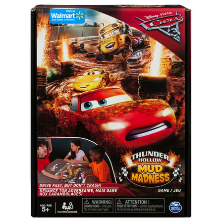Spin Master Games - Cars 3 - Thunder Hollow Mud Madness - Board Game - Walmart Exclusive