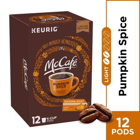McCafe Light Roast Pumpkin Spice Coffee K-Cup Pods, Caffeinated, 12 ct - 4.12 oz Box (Chai Latte Tea Kcup)