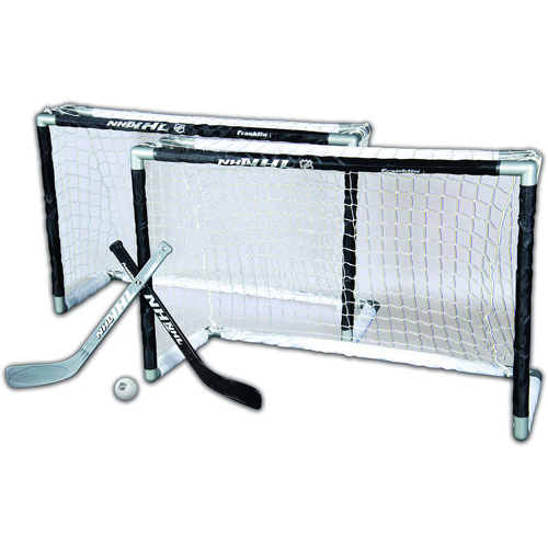 Franklin Sports NHL Mini Hockey 2-Goal Set